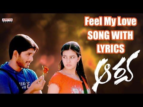 Feel My Love Full Song With Lyrics  Arya Songs  Allu Arjun, Anu Mehta, DSP, Sukumar