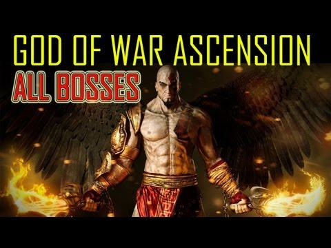 God of War Ascension - All boss battles all bosses every boss battle boss fights God of War 4