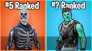 RANKING EVERY HALLOWEEN SKIN IN FORTNITE FROM WORST TO BEST