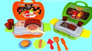 My Carry Along PIZZA SHOP Barbeque Grill Playsets for TODDLERS from Play Go | itsplaytime612