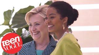 Yara Shahidi Meets Hillary Clinton at the Teen Vogue Summit | Teen Vogue