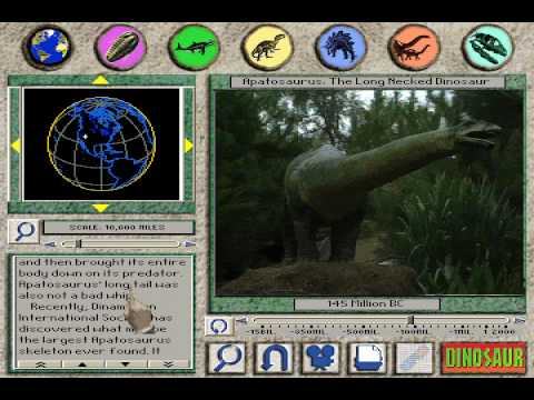 Apatosaurus: The Long Necked Dinosaur From 3-D Dinosaur Adventure MS-DOS/Packard Bell Version Video