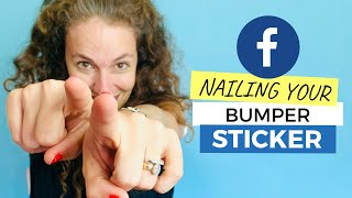 Your FACEBOOK PAGE needs a LABEL - as a BUMPER STICKER
