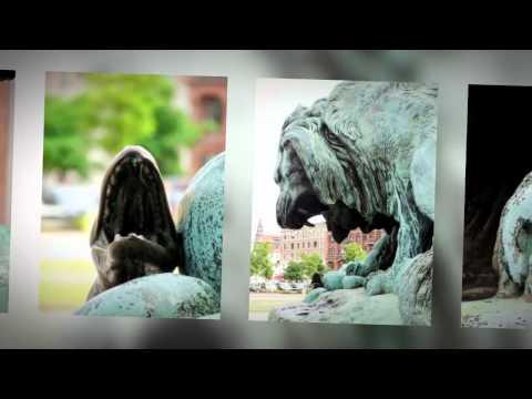Løve i kamp med en slange af Antoine-Louis Barye