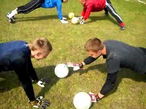 Goalkeeper Training Fun Hand Work