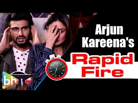 Arjun Kapoor | Kareena Kapoor's SUPER-FUN Rapid Fire On SRK | Salman | Aamir | Alia
