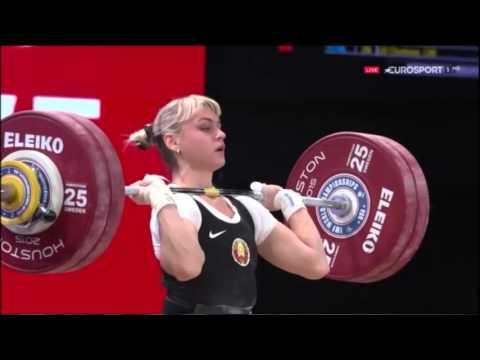 2015 World Weightlifting Women's  69 kg C+Jerk Group A