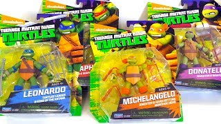 Best Learning Video For Children - Opening Teenage Mutant Ninja Turtles Half-Shell Heroes Toys
