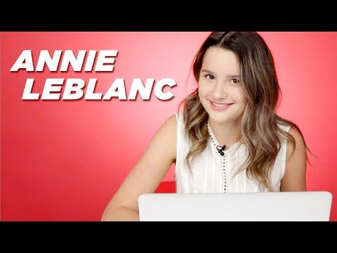 Annie LeBlanc Takes The Millennial Test
