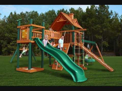 Children S Outdoor Swing Set Playsets Youtube