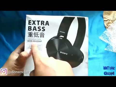 SONY MDR XB450AP HEADPHONES EXTRA BASS UNBOXING AND REVIEW