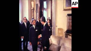 History: 1970 ETHIOPIAN EMPEROR, HAILE SELASSIE MEETS WITH ITALIAN PREMIER COLOMBO