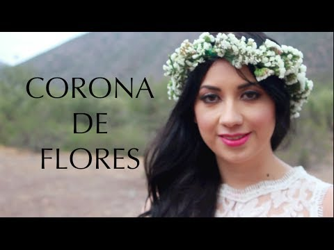CORONA DE FLORES NATURALES (DIY)♥ -FLOWER CROWN EASY