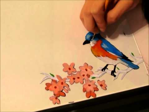 Bird Glass Painting
