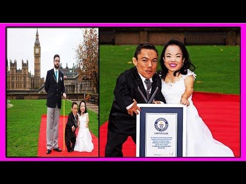 Поженились и Установили Рекорд Гиннесса, как Самая Низкорослая Семейная Пара в Мире!