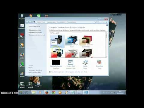 cara membuat theme windows 7 tanpa mendownload aplikasi !