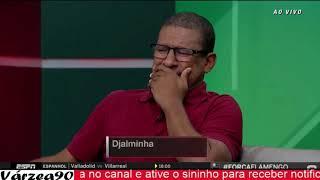 Djalminha se emociona ao falar do incêndio no CT do Flamengo