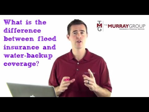 What is the difference between flood insurance and water-backup coverage?