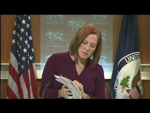 Psaki: Kerry has NO Ukraine-related calls. 23 Jan 2015