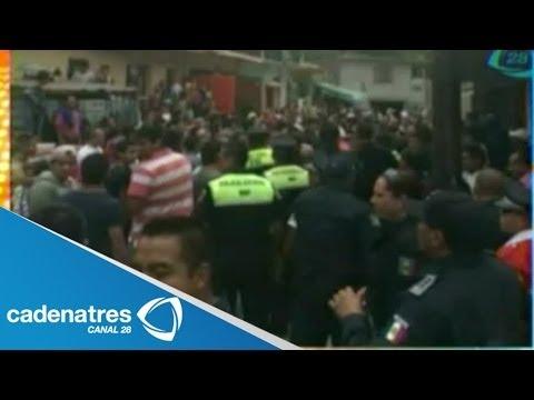 Asaltantes se salvan de ser linchados en municipio de Nicolás Romero