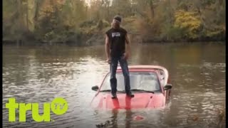 Lizard Lick Towing - Man Drives Car Into Lake to Avoid Repo