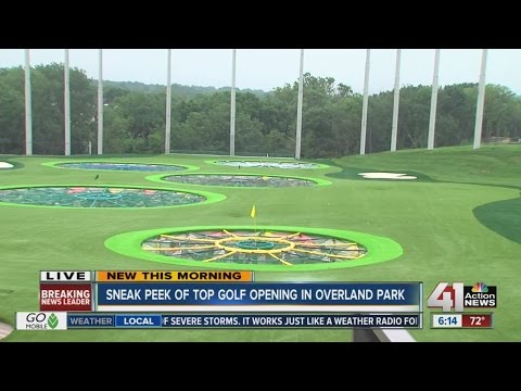Sneak peek of Top Golf Opening in Overland Park
