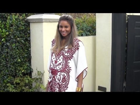 Pregnant Ciara Is A Boho Beauty At Her Baby Shower video