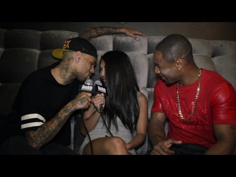 Chris Brown Interviews Tank and Gets Frisky with HotNewHipHop ( Shots Fired  Behind-The-Scenes)