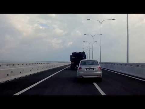 Ride through Penang Second Crossing - Part One. From Batu Maung to Batu Kawan