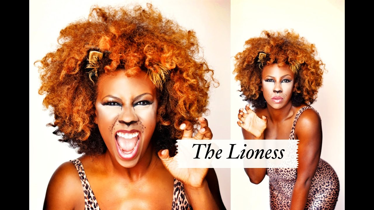 The Lioness Halloween Lion Makeup Tutorial