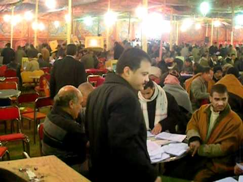 Counting station in Minya during 3rd Round parliamentary elections in January 2012