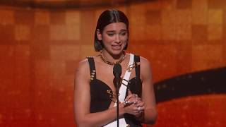 Dua Lipa Wins Best New Artist 2019 Grammys Acceptance Speech