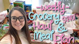 WEEKLY GROCERY HAUL + MEAL PLAN | NO MORE WALMART? 😳🤢