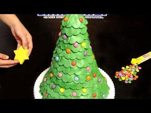 christmas tree fondant cookies