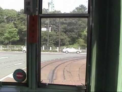 【路面電車・10倍速】 伊予鉄道 JR松山駅前-道後温泉 【前面展望】