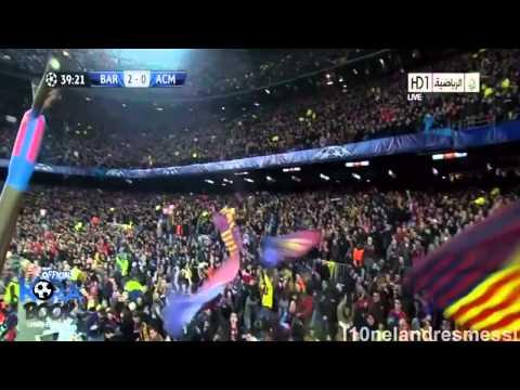 FC Barcelona vs AC Milan 4-0 English Commentary (HD)
