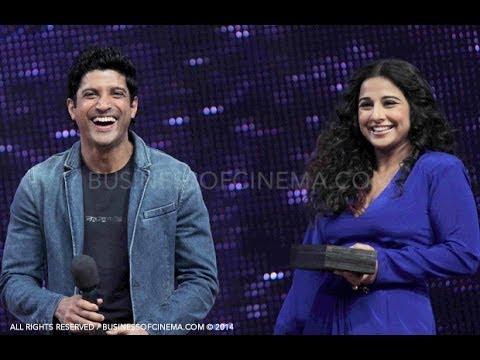 Farhan Akhtar & Vidya Balan on the sets of Nach Baliye