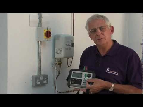 Earth fault loop impedance test