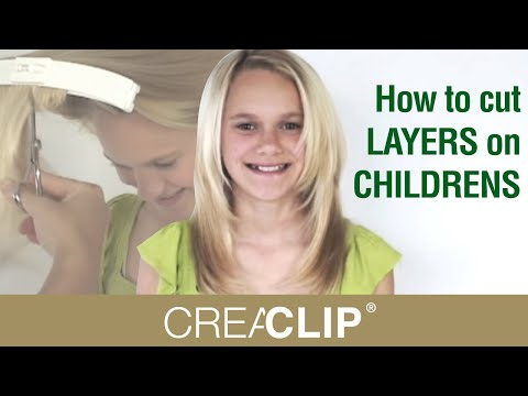 How To Cut Layers On Childrens Hair Tutorial Layered