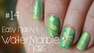 Water Marble Nails | Easy NailArt #14 (Deutsch)