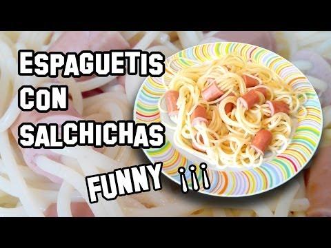 Recetas de Cocina | Espaguetis con Salchichas Funny ¡¡¡