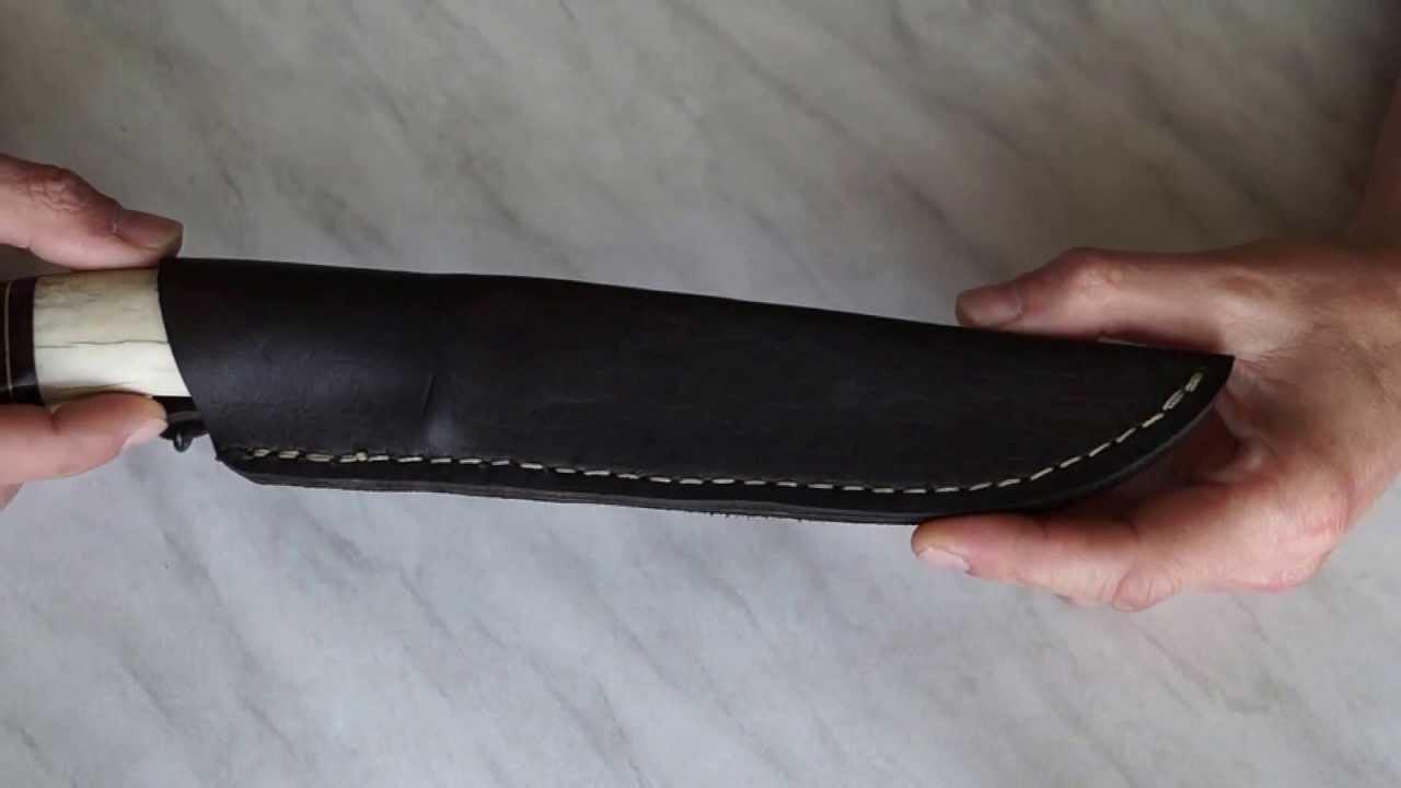 Чехол для ножа из тонкой кожи