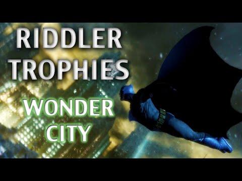 Road To Arkham Knight - Batman Arkham City - Walkthrough Part 57 - Wonder City Riddler Trophies