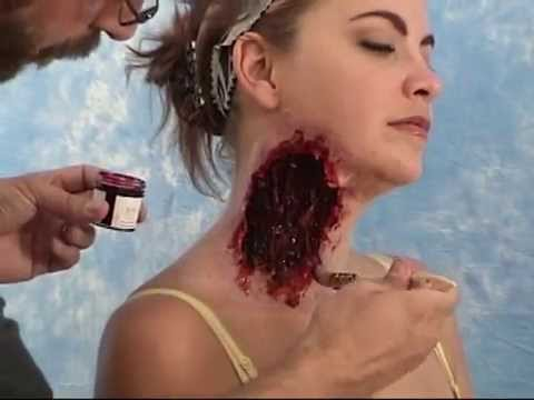 Special Effects Makeup with Gel-10: Torn Throat