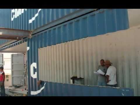 Casas con contenedores taufic gashaan proceso constructivo - Casa hecha con contenedores ...