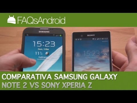 Comparativa Sony Xperia Z vs Galaxy Note 2   FAQsAndroid.com