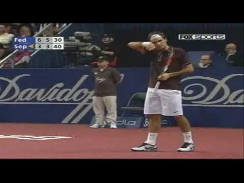 Basel 2009: Roger Federer vs Andrea Seppi Last Game of the Match