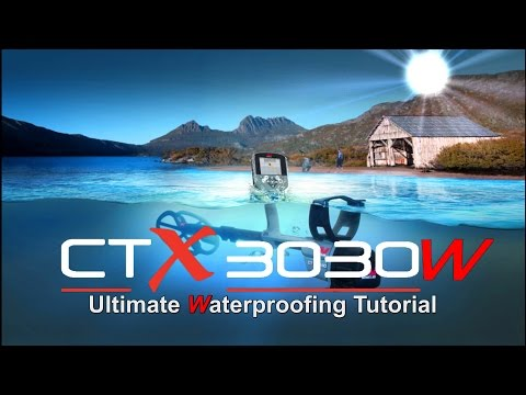 Frogmaster #3 Minelab CTX 3030 Waterproofing Tutorial Shallow Underwater Scuba metal detecting