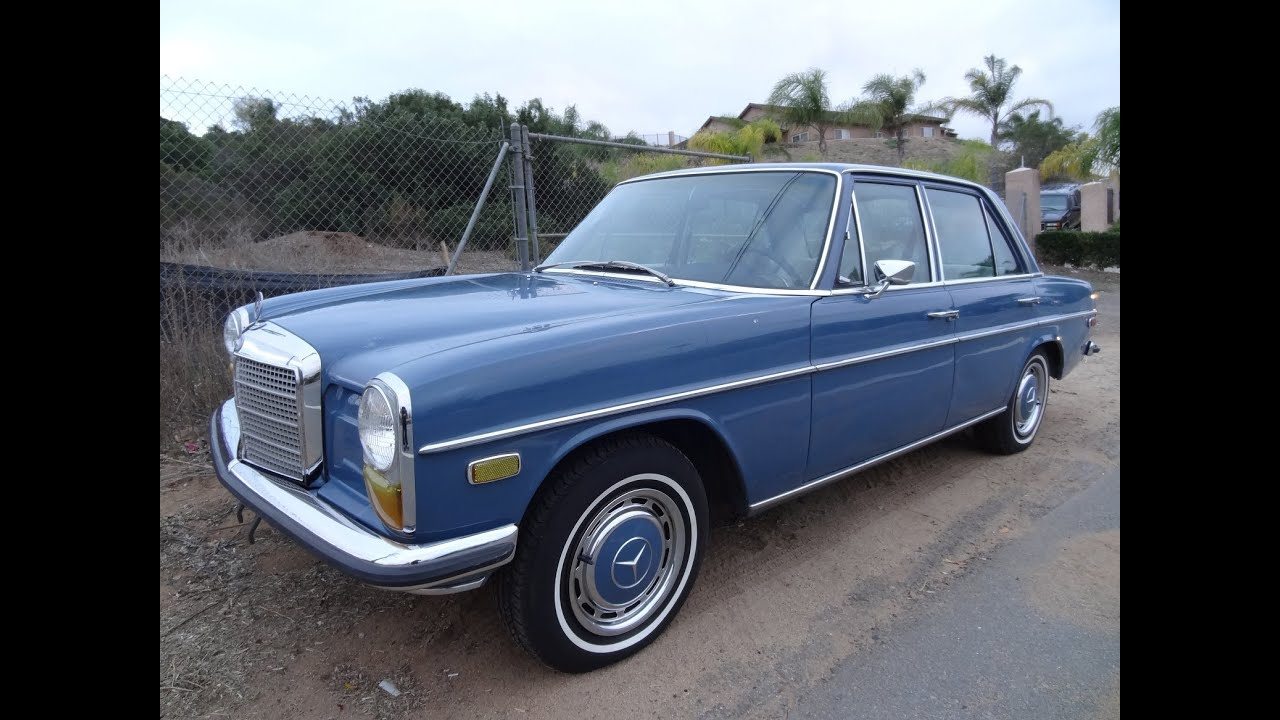 W114 mercedes benz w114 230 s manual start up test drive for How long does it take to build a mercedes benz