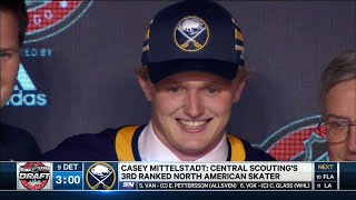 Sabres select Mittelstadt with No.8 pick